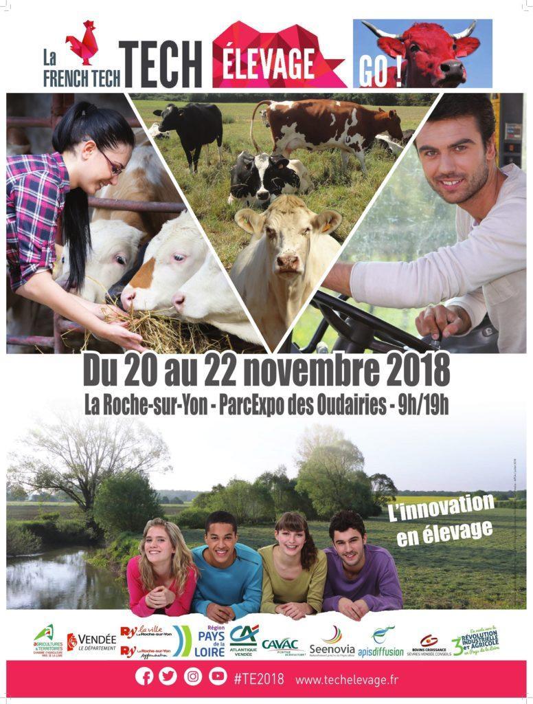 Tech Elevage – La Roche-sur-Yon – 20 au 22 Novembre 2018 –