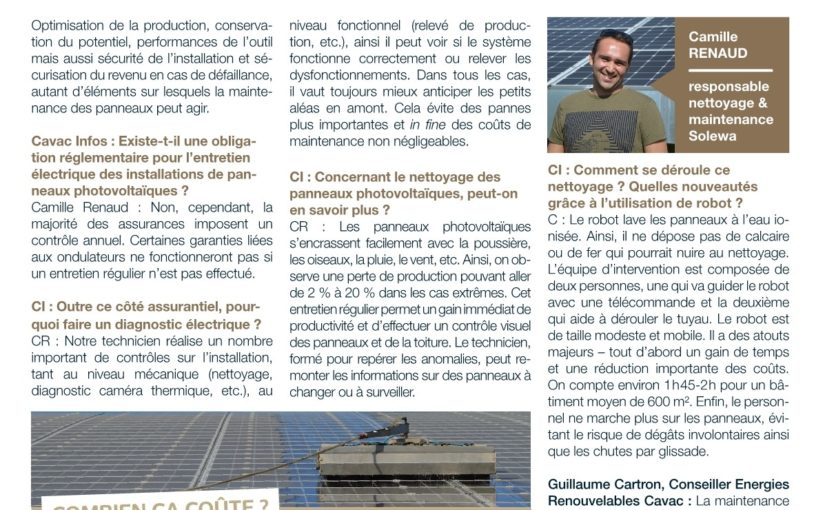 Performance des installations: Cavac Infos fait le point