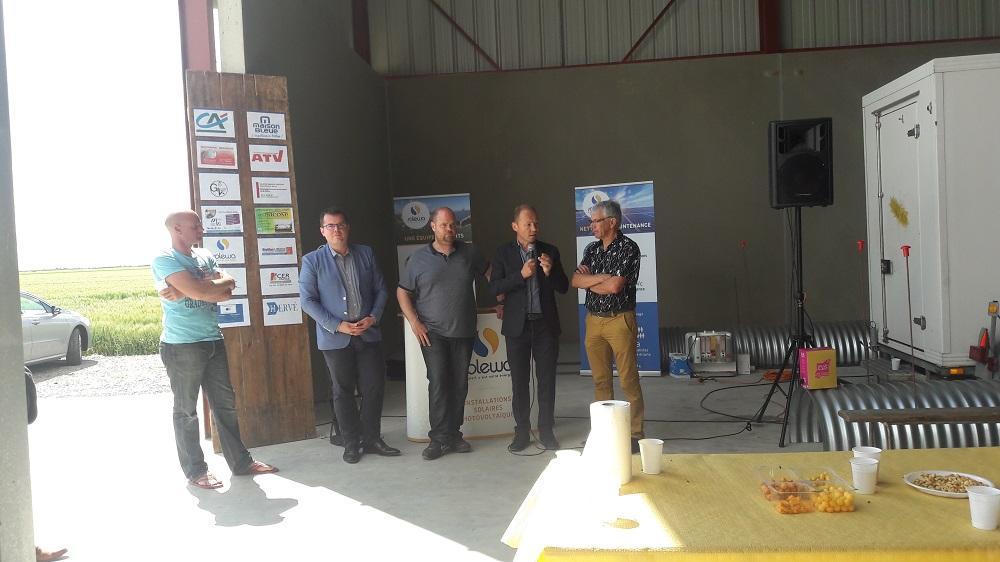 Inauguration d'un bâtiment agricole photovoltaïque à Triaize (85 Vendée)