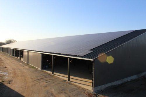 4 500m² de panneaux solaires sur une exploitation agricole en Loire-Atlantique
