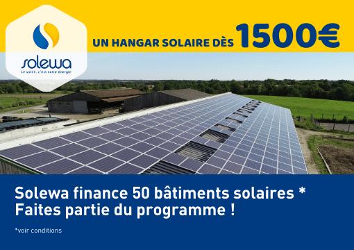 Faites partie des 50 bâtiments solaires financés par Solewa