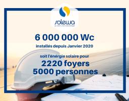 6 000 kWc installés depuis Janvier !