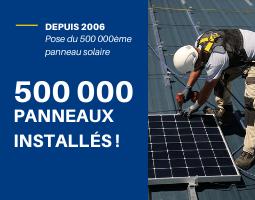 Pose du 500 000ème panneau solaire